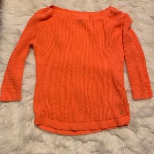 Pretty orange sweater. NWT